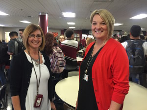 Wendy Bromley, assistant principal at North Central High School in Spokane, and Maryo Gustafson, dean of students